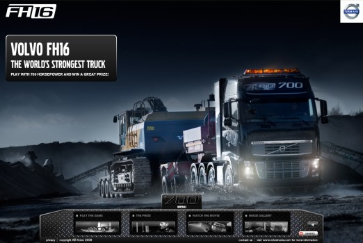 Strongesttruck - website Volvo FH16