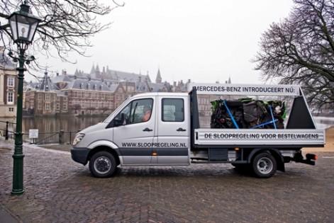 Mercedes-Benz start sloopregeling bestelauto's