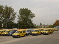 VW Caddy's bij de fabriek