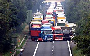 Blokkade Duitse trucks