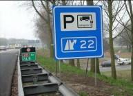 Truckparking verkeersbord