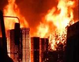 palletbedrijf in brand