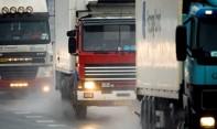 Vrachtverkeer in slecht weer