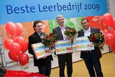 De winnaars, rechts Rinie van der Putten van Van Spreeuwel