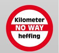 Sticker kilometerheffing No Way