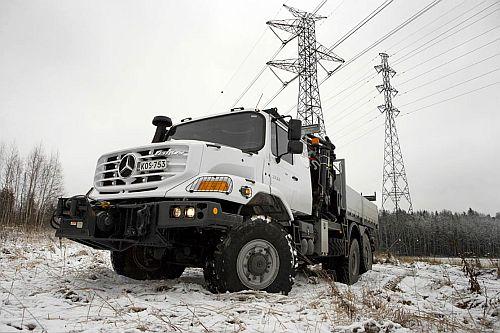 Mercedes-Benz Zetros aan de slag in Lapland