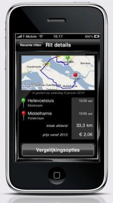 iPhone met Rij & Reken app