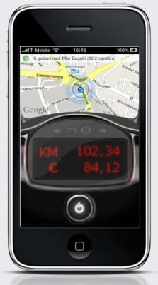 iPhone met Rij & Reken applicatie