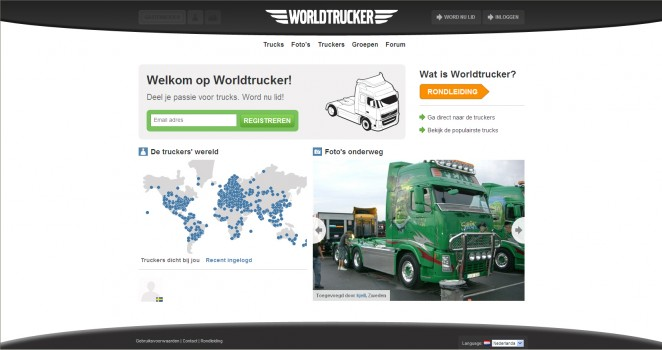 Worldtrucker homepage