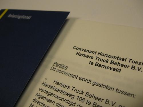 Belastingdienst sluit convenant met Harbers Trucks
