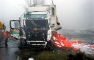 Truckers verongelukt door gladheid