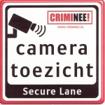 Crimineel Secure Lane cameratoezicht