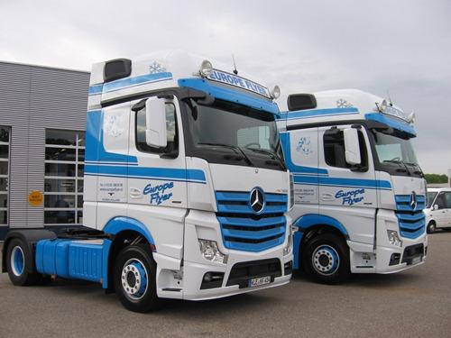 Europeflyer naar denemarken met nieuwe actros for Mercedes benz dealers in delaware