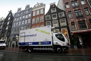 Élektrische vrachtwagen in Amsterdam