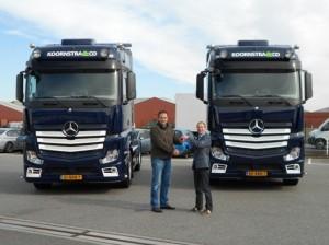aflevering nieuwe trucks