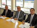 Petr Rusek, Ron Bonsen and Radek Strouhal signing a new agreement