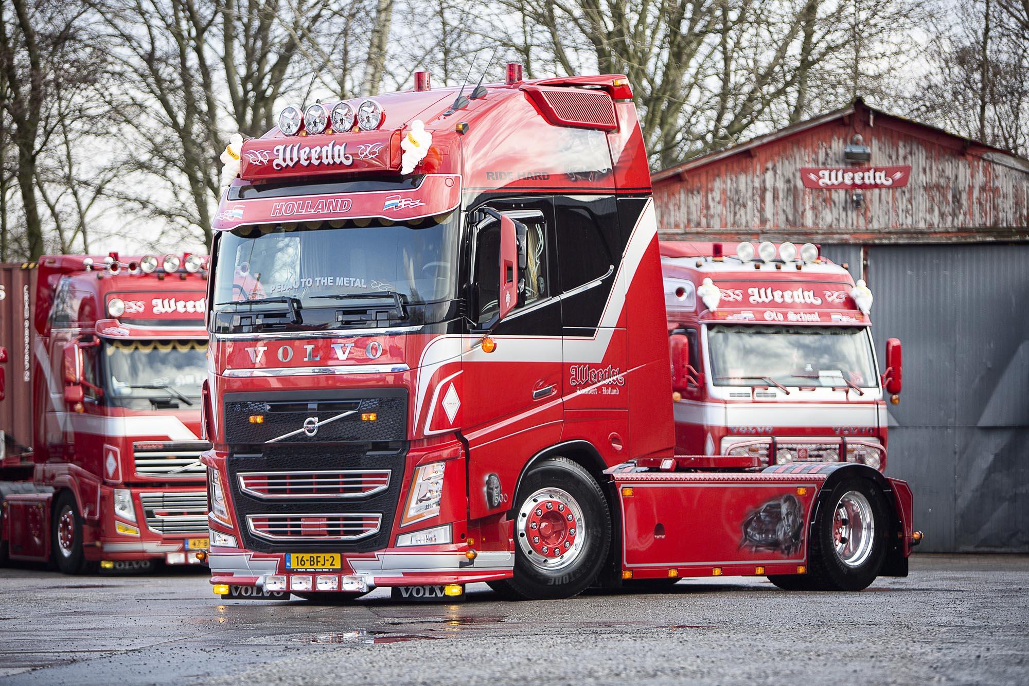 Weeda Transport Klundert on Lng Volvo Trucks