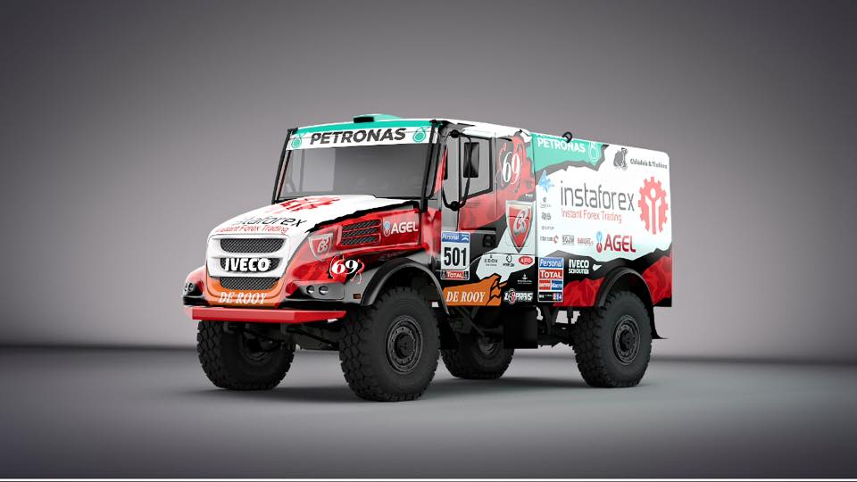 Loprais met Iveco in eigen kleuren naar Dakar • TTM.nl