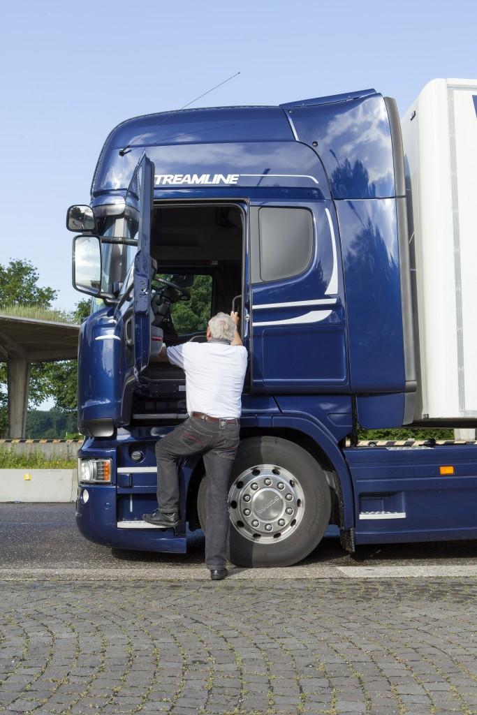 vrachtwagenchauffeurs met grote lullen