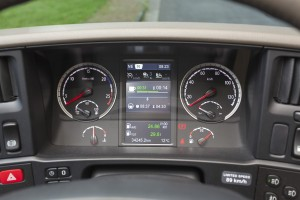 Hoever nog tot mijn volgende rusttijd? De Scania-boordcomputer helpt met het houden aan de regels.