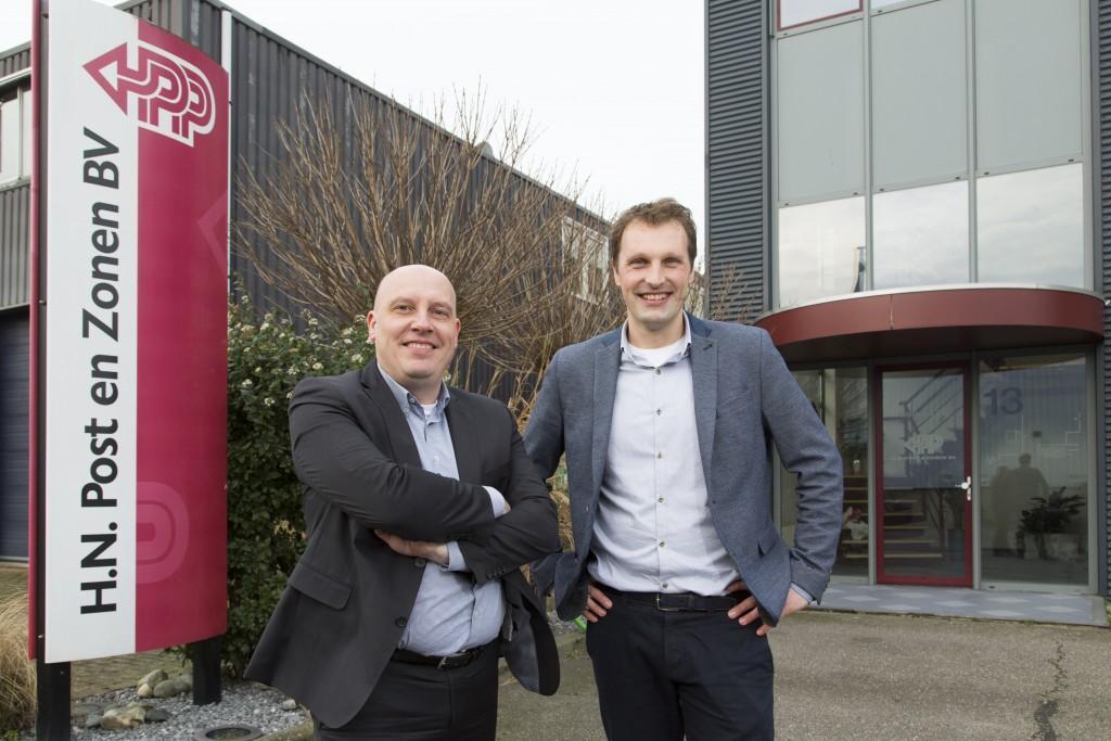 """""""TransFollow levert gebruikers behoorlijk wat tijdwinst op bij de verwerking van de vrachtbrieven en de facturatie"""", zeggen Patrick Huijgen (links) en Dé Post."""