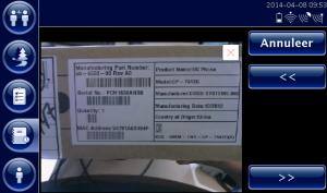 Het verwerken van te scannen en gescande barcodes gaat sneller met FleetXPS dan via een losse scanner bij de CarCube.