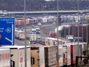 Calais Dover trucks