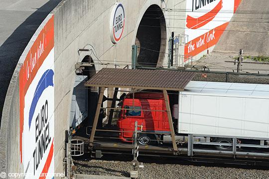 Eurotunnel Calais truck