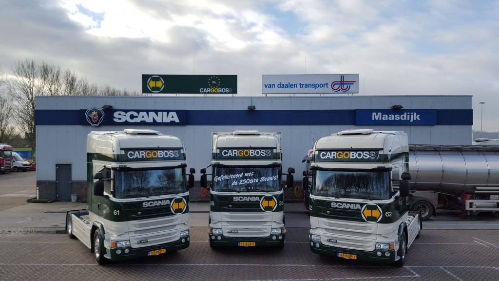 Cargoboss heeft onlangs zijn 250 ste Scania aan haar wagenpark ...