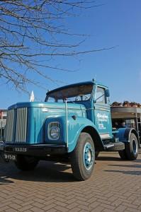 Prominent bij de ingang: de Scania-Vabis L55