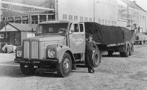 Begin jaren zestig: Gerard Berkhoff heeft suiker geladen bij CSM in Halfweg.
