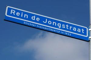 Het enige dat in Heerde nog herinnert aan Rein de Jong: de naar hem vernoemde straat.