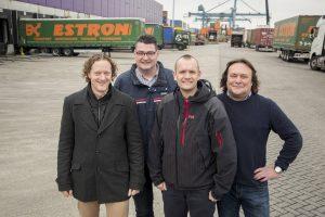 """Van links naar rechts de kerngebruikers Dennis Stok, Ruud Bumann en Jeroen Struijk samen met ICT-manager René Hoogvliet: """"Veelzeggend is dat we vanaf de allereerste dag geen papieren dossiers meer gebruiken."""""""