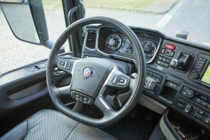 Scania heeft een topprestatie geleverd met deze werkplek voor de chauffeur.