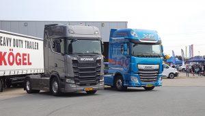Proefritje maken? Kon onder meer met deze Scania S730 en de nieuwe DAF XF.