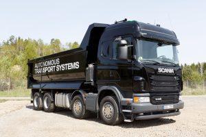 Autonoom rijden de mijnbouw kan al getuige deze Scania kipper.
