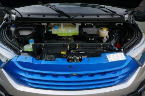 De elektrische motor en de accu's leveren een actieradius van max. 200 km aan de elektrische Daily.