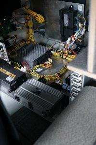 De bergruimte onder het bed wordt nu ingenomen door computers.