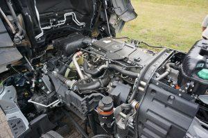 De OM470 dieselmotor is met 428 pk erg sterk. Je kunt hem ook in de Actros krijgen.