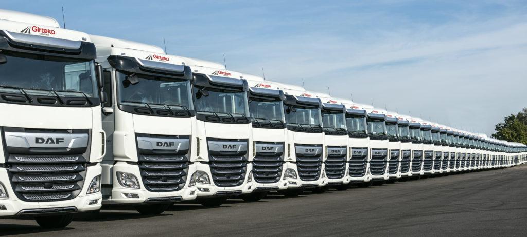 Girteka compra de golpe 1500 camiones DAF XF por su cabina extremadamente cómoda y sus prestaciones
