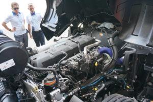 De 12,7 liter EcoTorq voldoet aan Euro6d en is door Ford zelf ontwikkeld. Hij is er ook in andere vermogensvarianten dan 500 pk.