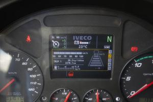 Een two-tonescherm in de Iveco